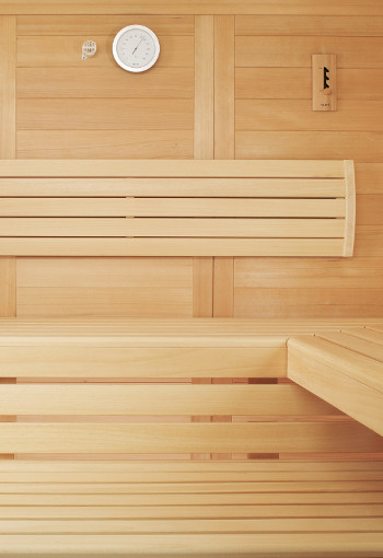 Wnętrze sauny domowej