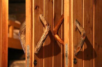 Sauna z piecem na drewno
