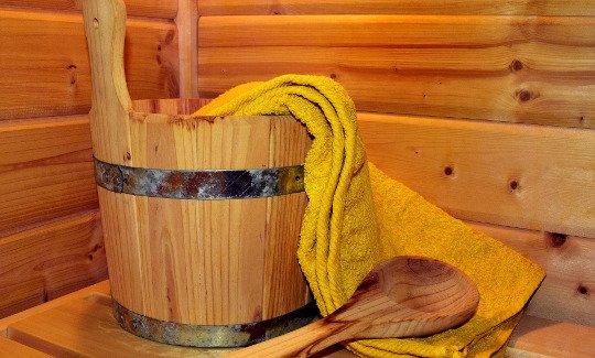Sauna ogrodowa opalana drewnem