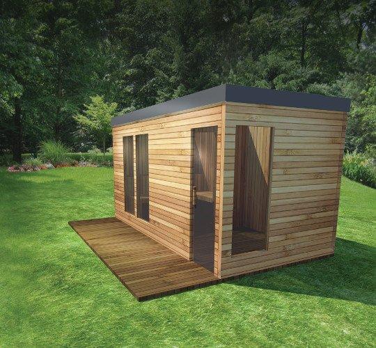 Wizualizacja sauny ogrodowej