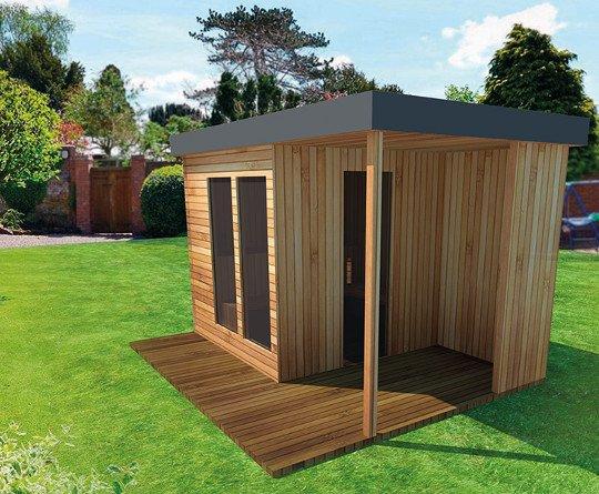Projekty sauny ogrodowej
